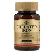 Buy Chelated Iron 100 Tabs, Solgar, UK Shop