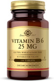 Buy Vitamin B6 25 mg 100 Tabs Solgar Online, UK Delivery, Vitamin B