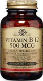 Buy Vitamin B12 500 mcg 250 Veggie Caps Solgar Online, UK Delivery, Vitamin B