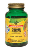 Buy Ginger Root Extract 60 Veggie Caps Solgar Online, UK Delivery, Herbal Remedy Natural Treatment