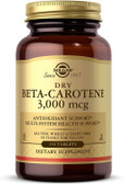 Buy Dry Beta Carotene 3,000 mcg 250 Tabs Solgar Online, UK Delivery, Antioxidant Vitamin A Beta Carotene