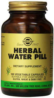 Buy Herbal Water Pill 100 Veggie Caps Solgar Online, UK Delivery, Diuretic Water Pills