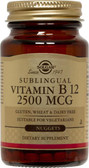 Buy Sublingual Vitamin B12 2500 mcg 120 Nuggets Solgar Online, UK Delivery, Vitamin B