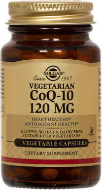 Buy Vegetarian CoQ-10 120 mg 60 Veggie Caps Solgar Online, UK Delivery, Coenzyme Q10