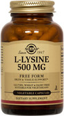 Buy L-Lysine Free Form 500 mg 100 Veggie Caps Solgar Online, UK Delivery, Amino Acid