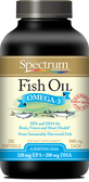 Buy Fish Oil 1000 mg 250 sGels Spectrum Essentials Online, UK Delivery, EFA Omega EPA DHA
