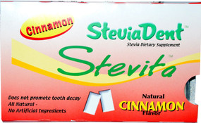 Buy SteviaDent Cinnamon 12 Pieces Stevita Online, UK Delivery, Oral Care Dental Chewing Gum Mints