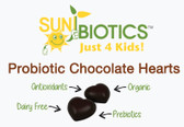 Buy Just for Kids! Probiotic Chocolate Hearts 30 Hearts 2 oz (56 g) Sunbiotics Online, UK Delivery, Stabilized Probiotics