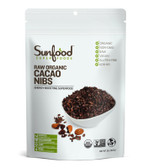 Buy Chocolate Cacao Nibs 8 oz (227 g) Sunfood Online, UK Delivery, Non-GMO Cacao Chocolate