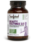 Buy Beauty Enzymes 700 mg 90 Vegi Caps Sunfood Online, UK Delivery, Superfoods Green Food