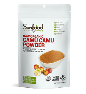 Buy Tangy Camu Camu Powder 3.5 oz (100 g) Sunfood Online, UK Delivery, Non-GMO Superfoods Green Food