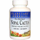Nopal Cactus 1000 mg 60 Tabs, Planetary, Prickly Pear Cactus, UK Shop