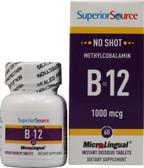 Buy MicroLingual Methylcobalamin B-12 1000 mcg 60 Instant Dissolve Tabs Superior Source Online, UK Delivery, Vitamin B12 Methylcobalamin