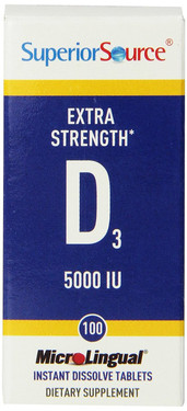 Buy MicroLingual Extra Strength Vitamin D3 5000 IU 100 Tabs Superior Source Online, UK Delivery, Vitamin D3