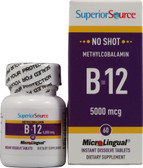 Buy MicroLingual Methylcobalamin B12 5000 mcg 60 Tabs Superior Source Online, UK Delivery, Vitamin B12 Methylcobalamin