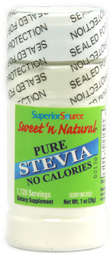 Buy Sweet 'n Natural Pure Stevia 1 oz (28 g) Superior Source Online, UK Delivery, Sweeteners