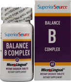 Buy MicroLingual Balance B Complex 60 Tabs Superior Source Online, UK Delivery, Vitamin B Complex