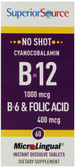 Vitamin B-12 / B-6 & Folic 60 Tabs Superior Source, UK
