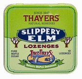 Buy Two Trees Slippery Elm Lozenges Pure Maple Sugar 42 Lozenges Thayers Online, UK Delivery, Herbal Remedy Natural Treatment