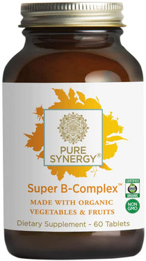 Buy Organic Super B-Complex 60 Veggie Tabs The Synergy Company Online, UK Delivery, Vitamin B Complex