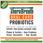Oral Care Probiotics Citrus Flavor 8 Sugar Free Lozenges TheraBreath