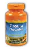 Buy C500 mg Chewable Natural Orange Flavor 60 Chewables Thompson Online, UK Delivery, Chewable Vitamin C