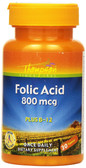 Folic Acid Plus B-12 800 mcg 30 Tabs Thompson