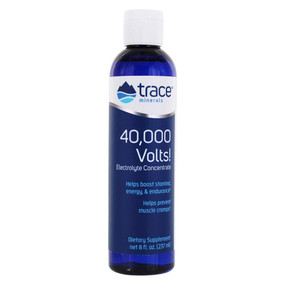 Buy 40 000 Volts! Electrolyte Concentrate 8 oz (237 ml) Trace Minerals Research Online, UK Delivery, Energy Boosters Formulas Supplements Fatigue Remedies Treatment