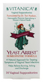 Buy Yeast Arrest Support 14 Suppositories Vitanica Online, UK Delivery