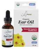 Buy Organic Ear Oil with Garlic and Mullein 1 oz Wally's Natural Products Online, UK Delivery