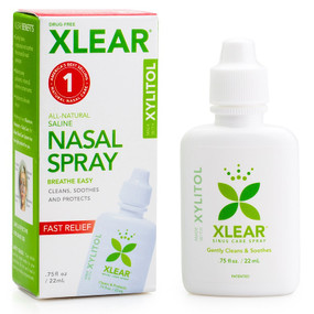 Buy Xylitol Saline Nasal Spray .75 oz (22 ml) Xlear (Xclear) Online, UK Delivery, Nasal Sprays Congestion Relief Remedies Respiratory Health