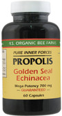 Buy Propolis Golden Seal Echinacea 60 Caps Y.S. Eco Bee Farms Online, UK Delivery, Bee Supplements