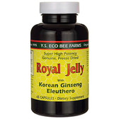 Buy Royal Jelly with Korean Ginseng Eleuthero 65 Caps Y.S. Eco Bee Farms Online, UK Delivery, Cold Flu Remedy Relief Viral Treatment Ginseng Eleuthero Immune Support
