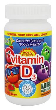 Buy Vitamin D Yummy Berry Flavor 1000 IU 60 Jellies Yum-V's Online, UK Delivery, Kids Gummies