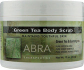 Buy Green Tea Body Scrub Green Tea & Lemongrass 10 oz (283 g) Abra Therapeutics Online, UK Delivery, Body Sugar Scrubs