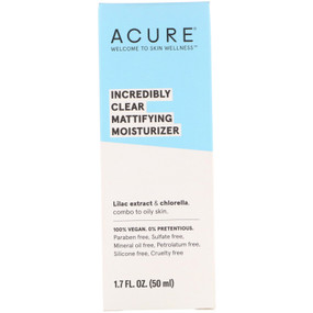 Buy Oil Control Facial Moisturizer Lilac Stem Cells + 1% Chlorella Growth Factor 1.75 oz (50 ml) Acure Organics Online, UK Delivery, Day Creams