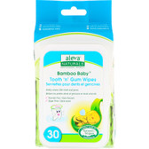 Buy Bamboo Baby Tooth 'n' Gum Wipes 30 Wipes 5.9 x 7.9 in (15 x 20 cm) Aleva Naturals Online, UK Delivery, Baby Wipes