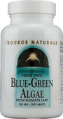 Blue-Green Algae 500 mg 200 Tabs Source Naturals, From Klamath Lake, UK Shop