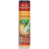 Buy Cocoa Butter Lip Balm Poetic Pomegranate .25 oz (7 g) Badger Company Online, UK Delivery, Lip Balms