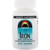 UK Buy Iron 25 mg, 250 Tabs, Source Naturals