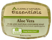 Buy Essentials Pure and Natural Glycerine Soap Aloe Vera 4 oz (113 g) Clearly Natural Online, UK Delivery, Vegan Cruelty Free Product