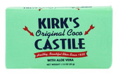 Original Coco Castile Soap with Aloe Vera 1 Bar 1.13 oz Kirk's