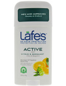 Buy All Natural Deodorant Stick Active 2.5 oz (71 g) Lafe's Natural Body Care Online, UK Delivery, Deodorant Stick