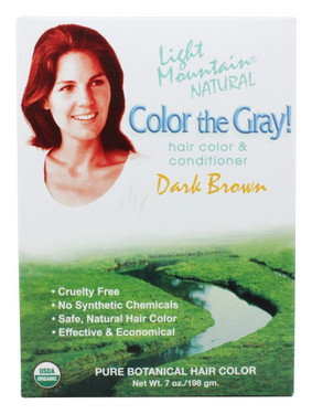 Color the Gray Natural Hair Color & Conditioner Dark Brown (197 gm)