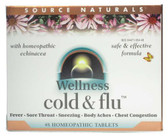 Wellness Cold & Flu 48 Tabs Source Naturals, Bio-Aligned Formula, UK