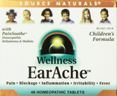 Wellness Earache 48 Tabs Source Naturals, Children's Formula