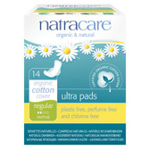 Ultra Pads Organic Cotton Cover Regular Normal 14 Pads Natracare