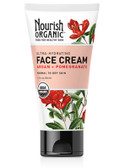 Buy Face Cream Argan + Pomegranate 1.7 oz (50 ml) Nourish Organic Online, UK Delivery, Vegan Cruelty Free Product Normal to Dry Skin Type
