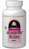 Advanced One Multiple No Iron 60 Tabs Source Naturals, Multivitamins