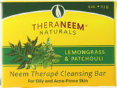 Buy TheraNeem Naturals Neem Therape Cleansing Bar Lemongrass & Patchouli 4 oz (113 g) Organix South Online, UK Delivery, Vegan Cruelty Free Product